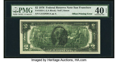 Fr. 1935-L $2 1976 Federal Reserve Error note PMG Extremely Fine 40 EPQ