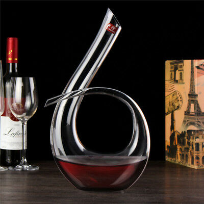 1.2L Luxurious Crystal Glass 6-shaped Wine Decanter Wine Pourer Red Wine Carafe