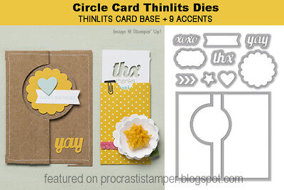 Stampin' Up! Sizzix Thinlits Circle Card Die Set