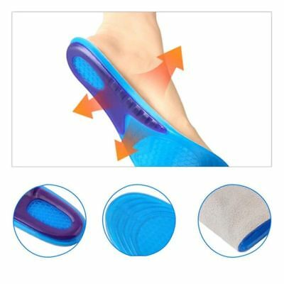 Women Men Silicone Insoles Pad Cushions Foot Feet Shoe Honeycomb Gel Impact Lot