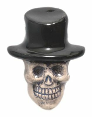 Shipwreck Beads 20 by 27mm Peruvian Hand Crafted Ceramic Skull Top Hat Be... New