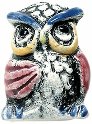 Shipwreck Beads 16 by 23mm Peruvian Hand Crafted Large Ceramic Owl Beads,... New