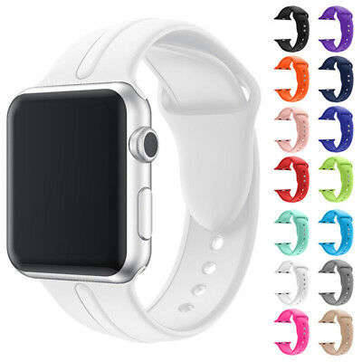 New Replace Silicone Wrist Sport Band Strap For Apple Watch Series 1/2/3 38/42mm