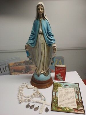 Christian Statue, Rosary Beads, & More