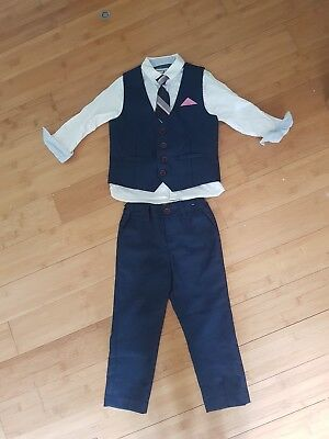 Boys Next Navy Suit Aged 2-3