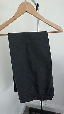 Boys Charcoal Grey School Trousers Age 12-13 Years