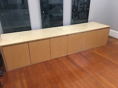 Quality 3 metre Office Credenza Sideboard Storage Cabinet Plywood Timber