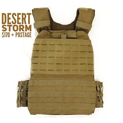 Crossfit, Military, Tactical Plate Carrier Weight Vest in Green, Tan, Black