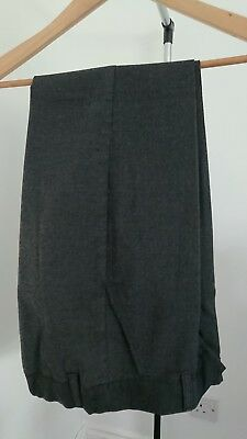 Boys School charcoal grey Trousers Age 13 Years From TU