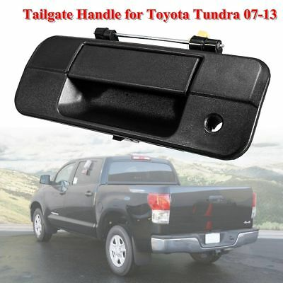 New Rear Outer Tailgate Handle With Keyhole Black For Toyota Tundra 2007-2013