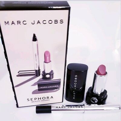 Sephora Exclusive Marc Jacobs Birthday Gift Set Lip Cream Kiss Bang Eyeliner Box