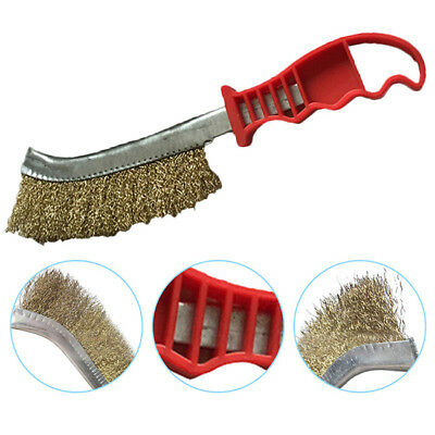Steel Wire Brush Soft Grip for Cleaning Metal Surfaces Welds &  Grill 6A