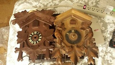 Black Forest Cuckoo Clocks Repair or Parts