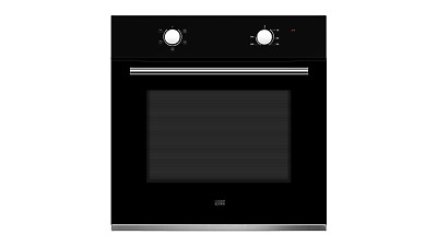 Cooke & Lewis Clfnbk60 Black Electric Single 60Cm Fan Assisted Oven Built In New