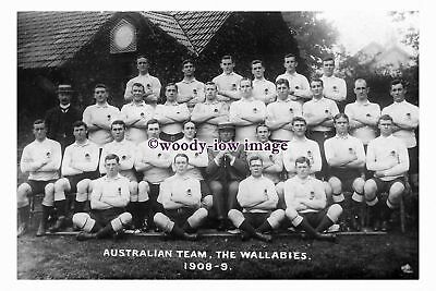 """rs1120 - Australian Rugby Union Team - The Wallabies 1908-1909 - photograph 6""""x4"""