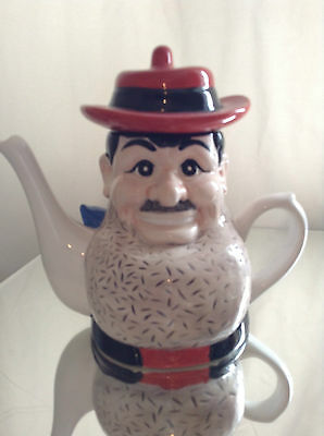 Peter Mook Rare Collectable Large Novelty Teapot Desperate Dan Excellent
