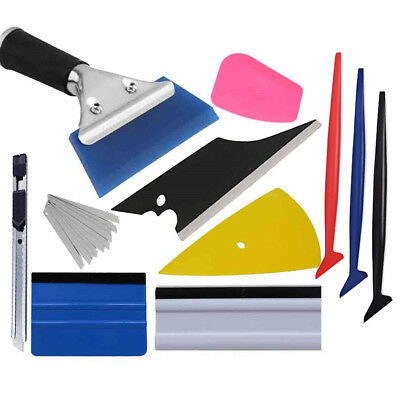 Vinyl Car Wrap Tuck Tools Kit Micro Squeegee Gasket Window Tint Knife Cutter New