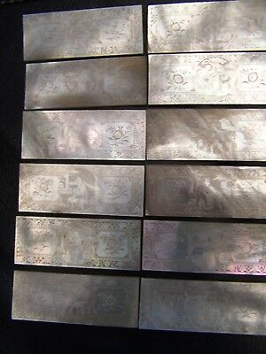 12 x ANTIQUE  MOTHER of PEARL CHINESE CANTONESE GAMING COUNTER CHIPS