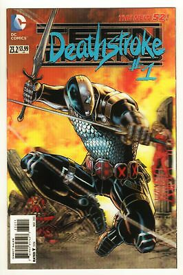 Teen Titans Deathstroke - No 1 - 2013 - SPECIAL 3D COVER! UNREAD! SCARCE UK!