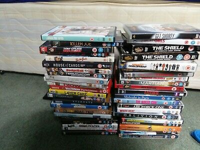 dvd bundle - collection of 45 used dvds (films & tv shows)