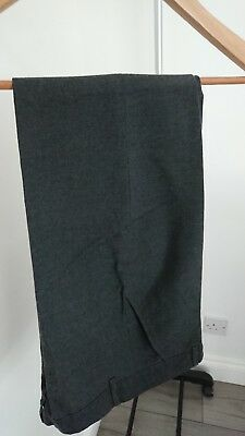 Boys School charcoal grey Trousers Age 11 Years From TU