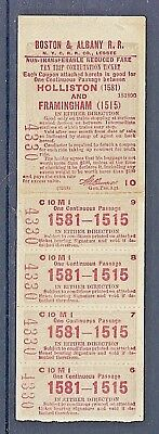 Nmstampsnstuff: 1918 Boston & Albany Rr - Partial Ticket Booklet