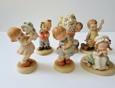 Memories of Yesterday Collectible Figurines in Original Box Lot of 6