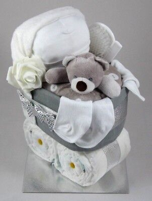 Unisex ⭐  Nappy Cake  Pram ⭐ Maternity Leave ⭐  New Born Baby Shower Gift
