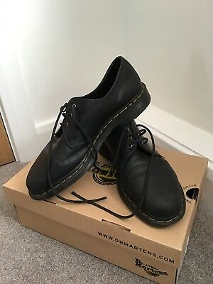 MENS DR MARTENS BLACK SAFETY WORK STEEL TOE CAP ICON 7B10 BOOTS SIZE ... 58c13fe34df8