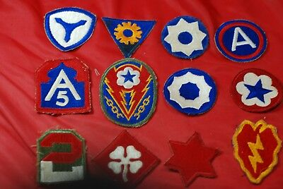 12 Different World War Ii  Patches - #m10838