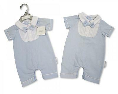 Baby Boy Clothes Spanish style  Romper All in One Bow tie blue newborn 0-3 3-6 m