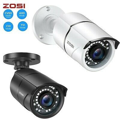 ZOSI HD 720p/2MP 4in1 Outdoor Day Night 100ft IR Cut CCTV Bullet Security Camera