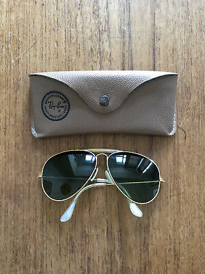 Ray Ban Outdoorsman, 1980er, Bausch Lomb, Vintage Ray Ban Aviator, Gold