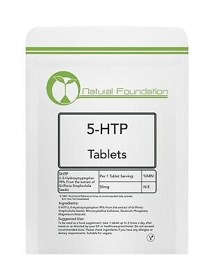 5-HTP 50mg Tablets - Insomnia Depression Anxiety Appetite Diet Weight Loss