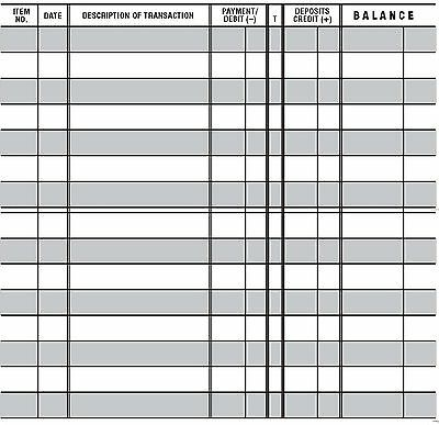 1  Easy To Read Checkbook Transaction Register Large Print Check Book Registers