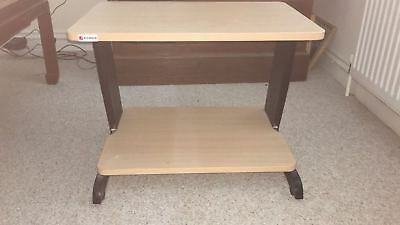 Office Computer work Station / Printer Table Maple Effect