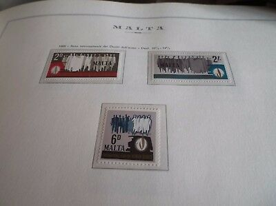 Malta 1968 Sg 399-401 Human Rights Year Mnh.
