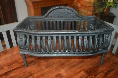Vintage Cast Iron Coal Log Fireplace Grate Small