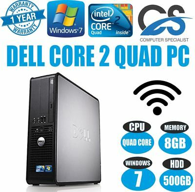 Windows 7 Pro Rapide Dell Optiplex 780 Ssf Bureau Pc Ordinateur Intel Core 2 72e4785e4beb