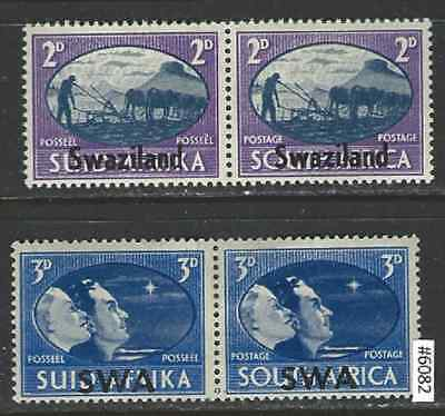 #6082 SOUTH WEST AFRICA Sc#154-5 MNH/MH Peace Issue, 1945 Pairs 2 copies