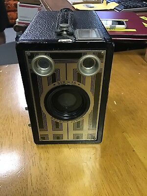 Vintage Kodak Brownie Junior Six-16 Box Camera Uses Kodak 616 Film ART DECO