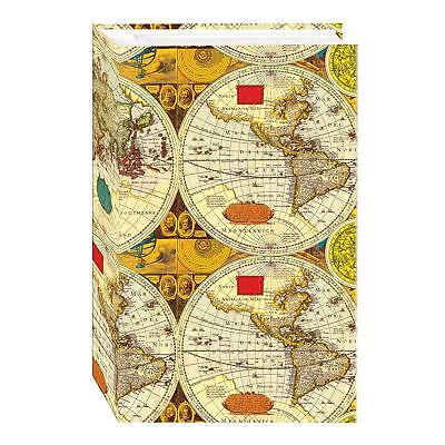 3-Ring Photo Album 504 Pockets Hold 4x6 Photos, Ancient World Map Design