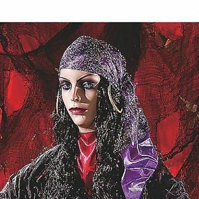 Halloween Decorations Animated Haunted House Props Gypsy Woman Fortune Teller