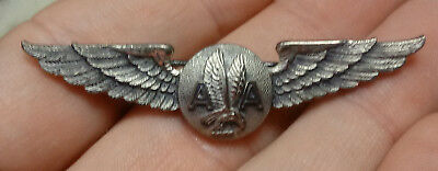 OLD Obsolete AMERICAN AIRLINES Sterling Silver LGB PILOT Attendant Flight WINGS
