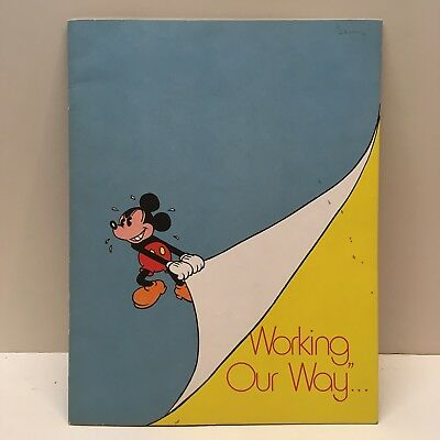 Vintage Disneyland Host Employee Worker Book Policy Rules Practices Disney 1974