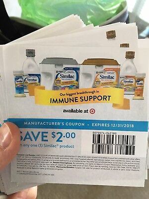 Lot of Similac $2 Off Coupons Baby Infant Formula Exp 12/31/18 $16 Value new