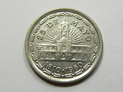 1 Peso Argentina 1960 - 150th Anniversary of the May Revolution  #6777