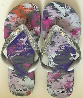 5185d604b7fe15 ROSA CHA Havaianas Flip Flops Sandals with Carrying Bag Size 37-38 US 6 NEW