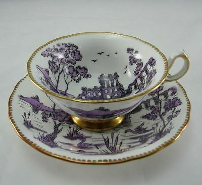 Vintage Royal Chelsea English Bone China Castle Ruins  Cabinet Cup & Saucer