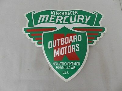 Vintage Outboard Motor Decal- Kiekhaefer / Mercury Outboard Large Decal- Boating